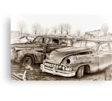 Junk Yard Canvas Print