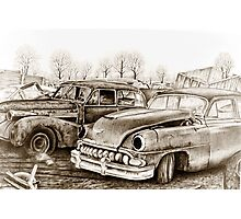 Junk Yard Photographic Print