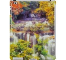 Autumn landscape with waterfall iPad Case/Skin