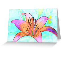 Lines of a Lily Greeting Card