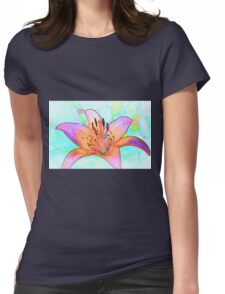 Lines of a Lily Womens Fitted T-Shirt