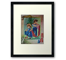 Anna And Paul - Superman And The Mad Mermaid Queen Framed Print