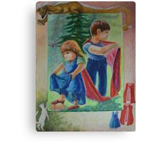 Anna And Paul - Superman And The Mad Mermaid Queen Canvas Print