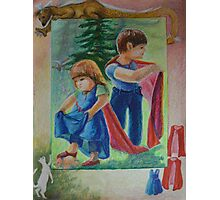 Anna And Paul - Superman And The Mad Mermaid Queen Photographic Print
