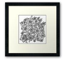 floral garden Framed Print