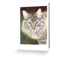 Pastel Portrait of Regal Cat Greeting Card