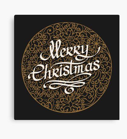 Merry Christmas handmade lettering  Canvas Print
