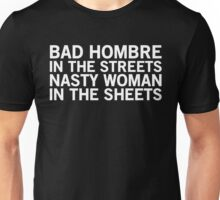 Streets vs. Sheets - Bad Hombre on Top (White) Unisex T-Shirt