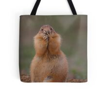 Prairie Dog with Funny Expression Tote Bag