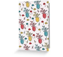 Colorful Cofee Beans Fun Greeting Card