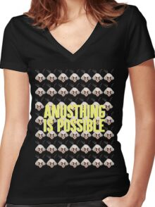 ALASKA THUNDERFUCK - ANUSTHING IS POSSIBLE Women's Fitted V-Neck T-Shirt