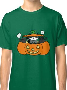 Halloween Black Cats and Raccoon Classic T-Shirt