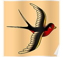 American Traditional Swallow III Poster