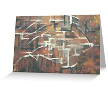 ABSTRACT COPPER(C2000) Greeting Card