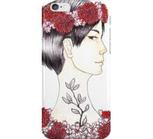 Kaede in sakura and dalias iPhone Case/Skin