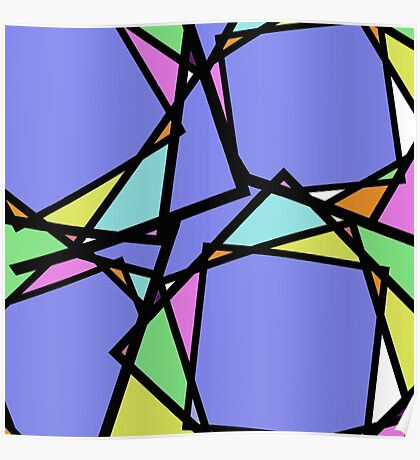 Stain Glass Abstract Poster