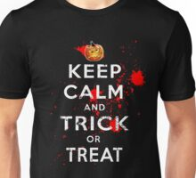 Halloween Keep Calm Trick or Treat Costume Unisex T-Shirt