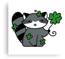 Lucky Raccoon Canvas Print