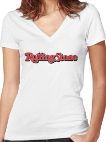 ROlling Stones Women's Fitted V-Neck T-Shirt