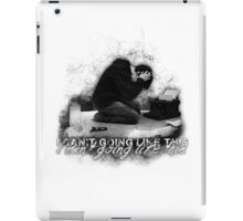 Alan Wake 'I can't going like this....' - white version iPad Case/Skin