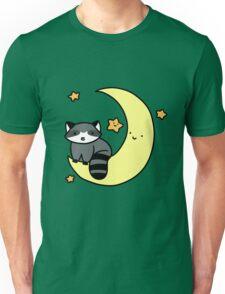 Crescent Moon Raccoon Unisex T-Shirt