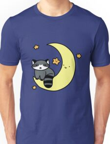 Crescent Moon Raccoon Unisex T-Shirt