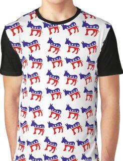 Democrat Pattern Graphic T-Shirt