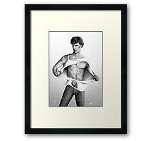 Sexy Benedict Cumberbatch / Sherlock V4 Framed Print