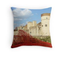 Wave of Blood-Tower of London Throw Pillow