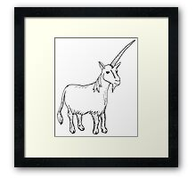 Grumpy Unicorn Framed Print