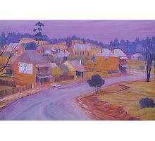 Misty Twilight - Hill End NSW Photographic Print