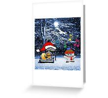 Cats Sing Christmas Carols Greeting Card