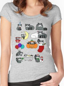 Raccoons! Women's Fitted Scoop T-Shirt