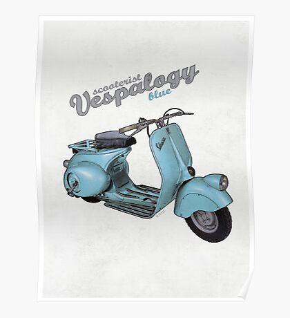 Scooterist Vespalogy (blue) Poster