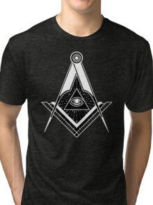 Freemason Square Compass Logo Lodge Tri-blend T-Shirt