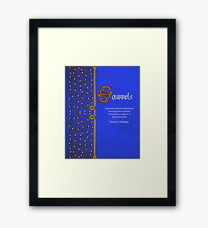 New Book of Squirrels on Blurb! Framed Print