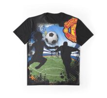 soccer Man-Uni Black Graphic T-Shirt