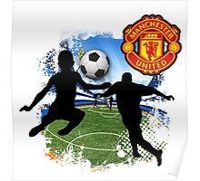 soccer Man-Uni Black Poster