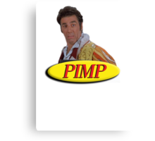 Cosmo Kramer from Seinfeld as a pimp Canvas Print