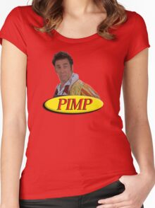 Cosmo Kramer from Seinfeld as a pimp Women's Fitted Scoop T-Shirt