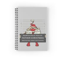 Father Christmas Breaking and Entering Spiral Notebook