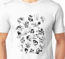 Black and Whitte Cute Unisex T-Shirt