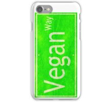 Vegan Way Leaf Street Sign iPhone Case/Skin