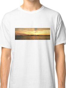 Golden Dusk Sea Sunset. Classic T-Shirt