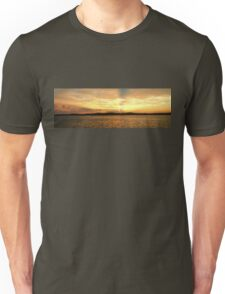 Golden Dusk Sea Sunset. Unisex T-Shirt