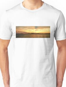 Golden Dusk Sea Sunset. Unisex T-Shirt