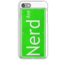 Nerd Ave. Street Sign iPhone Case/Skin