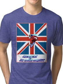 CYCLING CLUB; of The United Kingdom Print Tri-blend T-Shirt