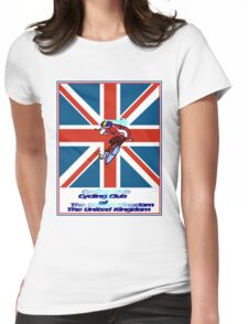 CYCLING CLUB; of The United Kingdom Print Womens Fitted T-Shirt