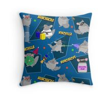 NinChilla Nunchucks In Blueberry Throw Pillow